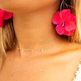 Boucles d'oreilles TIARE rose Manahei Creations